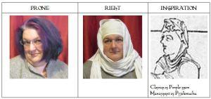 Triptych head Female