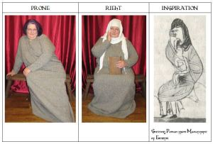 Triptych Sitting Female