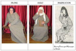 Triptych Sitting Female